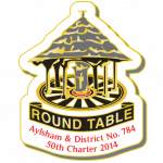 Aylsham Round Table 50th Charter Pin Badge