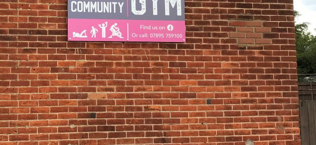 Sign For The Community Gym